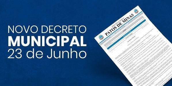 NOVO DECRETO MUNICIPAL DE 23 DE JUNHO DE 2020