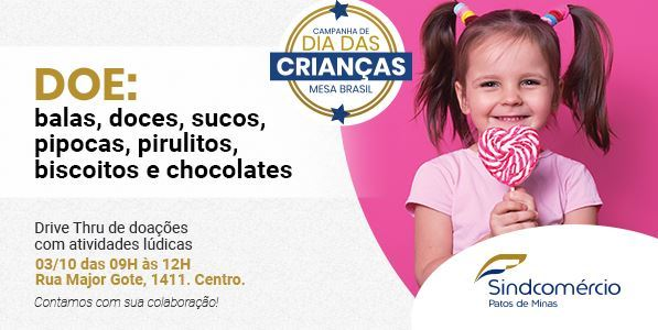 Participe da Campanha de Doação Programada Mesa Brasil: Dia das Crianças