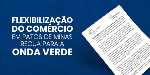 NOTA SOBRE O FECHAMENTO DO COMÉRCIO EM PATOS DE MINAS