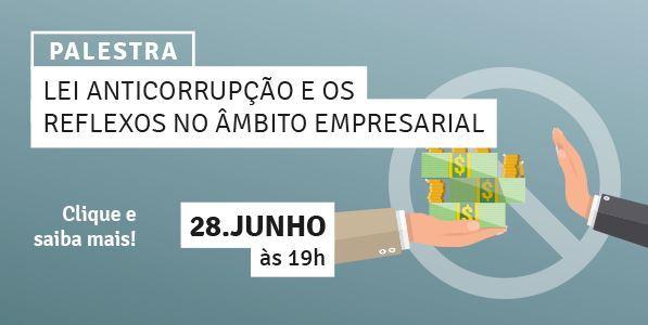 Sindcomércio Patos de Minas convida você para a palestra LEI ANTICORRUPÇÃO E OS REFLEXOS NO ÂMBITO E