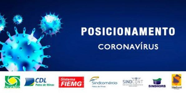 CORONAVÍRUS - POSICIONAMENTO