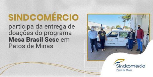 Doação de mais de 2.400 kg de alimentos pelo Mesa Brasil