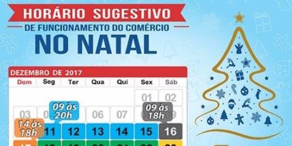 Horário Especial do Comércio Patense no Período Natalino 2017