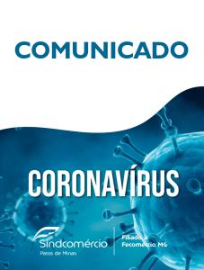 COMUNICADO - VÍRUS COVID-19