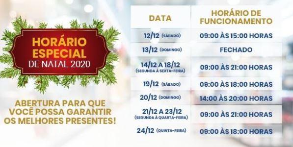 Horário Especial de Natal 2020